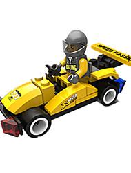 cheap -JIE STAR Toy Car Building Blocks Square Race Car DIY Creative Race Car Boys' Unisex Toy Gift