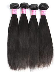 4 bundles Brazilian Virgin Remy Hair Straight Human Hair Weave Extensions 400g