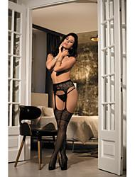 Недорогие -женская ночная одежда& loungewear чулочно-носочные изделия тонкие колготки жаккардовые 1 шт сексуальный черный