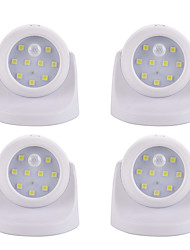 economico -4pcs Night Light LED Batteria Smart Sensore del corpo umano