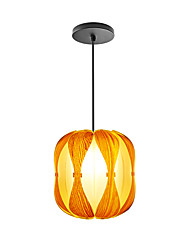 E14/E27 A-06 Modern LightsLayered Wood Artichoke Ceiling Pendant Light Pendant Lampshade