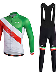 cheap -Sports Cycling Jersey with Bib Tights Men's Long Sleeve BikeBreathable Quick Dry Moisture Permeability 3D Pad Reflective Strips