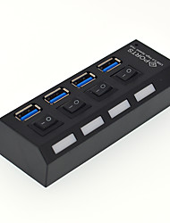 cheap -4 USB Hub USB 3.0 USB 3.0 With Switch(es) Data Hub