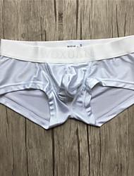 Naylon Spandeks Sexy Boxer Donlar Ultra Seksi Külotlar,Tek Renk