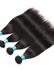 cheap -Indian Straight Human Hair Weaves 4 Pieces 0.4