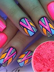 1g/Bottle Fashion Sweet Style Nail Art Pink Neon Pigment Neon Effect Power Nail Fluorescent Power Nail DIY Beauty Sweet Decoration YE10