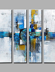 Modern Abstract Pure Hand Draw Ready To Hang Four Panels  Oil Painting For Home Decoration