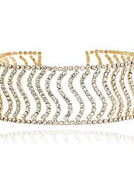 billige -Dame Kort halskæde - Rhinsten Mode, Euro-Amerikansk Guld, Sølv Halskæder Smykker Til Bryllup, Fest