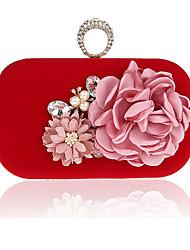 Femme Sacs Toutes les Saisons Polyester Sac de soirée Fleur pour Mariage Soirée / Fête Formel Argent Rouge Aigue-Marine Rouge de Rose