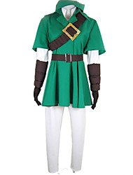 cheap -Inspired by The Legend of Zelda Link Deluxe Video Game Cosplay Costumes Cosplay Suits Patchwork Half Sleeves Coat Shirt Pants Gloves More