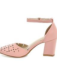 Da donna Sandali Club Shoes Finta pelle Estate Casual Traforato Quadrato Bianco Nero Beige Giallo Rosa 7,5 - 9,5 cm