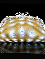 cheap -Women's Bags Polyester Sparkling Glitter Bow(s) for Gold Silver
