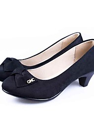 cheap -Women's Shoes Fabric Spring Summer Comfort Formal Shoes Heels Low Heel Round Toe for Daily Dress Office & Career Black