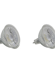 cheap -5W 350-400 lm GU5.3 LED Spotlight MR16 1 leds COB Warm White White
