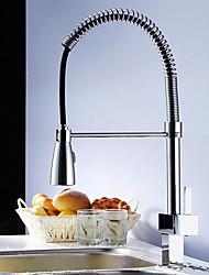 Moderne Décoration artistique/Rétro Pull-out / Pull-down Grand / Haut Arc Vasque Séparé Avec spray démontable with  Soupape céramique