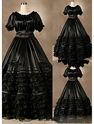 cheap -Victorian Gothic Medieval Costume Women's Dress Party Costume Masquerade Vintage Cosplay Other Satin Short Sleeves Cap Floor Length