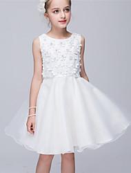 Princess Knee Length Flower Girl Dress - Tulle Sleeveless Jewel Neck by Bflower