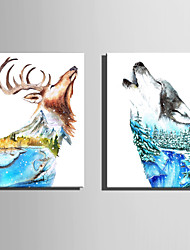 cheap -E-HOME Stretched Canvas Art  The Ideal World Of Animals Decoration Painting One Pcs