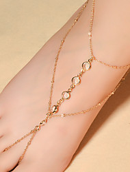 cheap -Women's Anklet / Bracelet Crystal Fashion Barefoot Sandals Drop Jewelry For Daily Casual