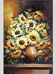 cheap -Oil Paintings Still Life Style Canvas Material With Wooden Stretcher Ready To Hang Size60*90CM .
