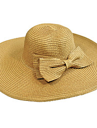 cheap -Straw Hat Bow Men Summer Cap Wide Brim Hawaii Folding Soft Sun Hat Casual Foldable Brimmed Beach Hats