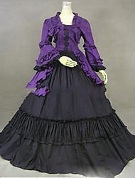 abordables -Rétro Victorien Gothique Epoque Médiévale Costume Femme Robes Costume de Soirée Bal Masqué Vintage Cosplay Autre Coton Manches Longues