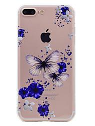 economico -Per iphone 7 più 7 telefono caso farfalla e modello fiore morbido tpu telefono cellulare 6s più 6 più 6s 6 se 5s 5