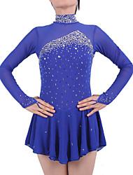 Per donna Da ragazza Vestito da pattinaggio artistico Completo da pattinaggio sul ghiaccio Manica lunga Gonne Vestiti Pantaloni Fatto a