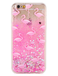 Case  for Apple iPhone 7 7 Plus Flamingo Glitter Shine Pattern Flowing Liquid Hard  PC  6s Plus 6 plus 6s 6