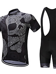 cheap -SUREA Men's Short Sleeve Cycling Jersey with Bib Shorts Bike Clothing Suits, Quick Dry, Breathable, Sweat-wicking Coolmax® / Lycra