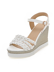 Women's Sandals Slingback Gladiator Comfort Leatherette Summer Wedding Casual Party & Evening Dress Slingback Gladiator Comfort Wedge Heel