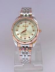 Women's Dress Watch Wrist watch Quartz Stainless Steel Band Vintage Silver Rose Gold