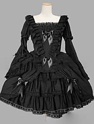 Gothic Lolita Dress Punk Princess Women's Girls' One Piece Dress Cosplay Cap Long Sleeves Short / Mini