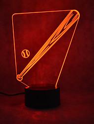 economico -1pc 3D Nightlight Touch Sensor Con porta USB Alimentazione USB Toccare 7-Color
