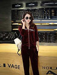 Women's Tracksuit Long Sleeves Clothing Suits for Exercise & Fitness Leisure Sports Running Rayon Slim Fire Head