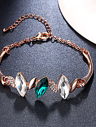 Damen Ketten- & Glieder-Armbänder Bettelarmbänder Kristall Synthetischer Smaragd Kubikzirkonia Natur Modisch Vintage Krystall