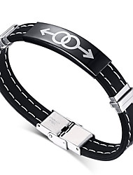 cheap -Men's ID Bracelet - Titanium Steel Friendship, Rock, Fashion Bracelet Black For Christmas Gifts / Birthday / Gift