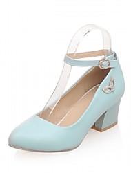 Feminino Sapatos Couro Ecológico Verão Outono Conforto Inovador Saltos Salto Grosso Dedo Apontado Pedrarias Presilha Para Casual Social