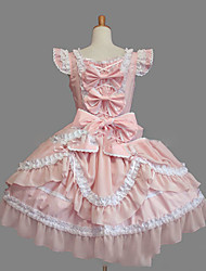 cheap -Sweet Lolita Dress Princess Lace Women's Girls' One Piece Dress Cosplay Cap Sleeveless Short / Mini