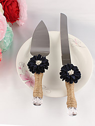 Chrysanthemum Flower Cake Servers Set