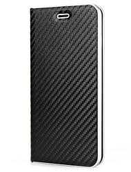 Недорогие -Назначение iPhone X iPhone 8 Чехлы панели Бумажник для карт Флип Магнитный Чехол Кейс для Сплошной цвет Твердый Искусственная кожа для