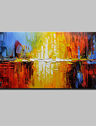 cheap -Hand-Painted Abstract Horizontal, Modern European Style Canvas Oil Painting Home Decoration One Panel