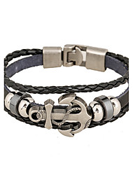 cheap -Men's Leather Leather Bracelet - Natural Fashion Irregular White Black Brown Bracelet For Special Occasion Gift Sports