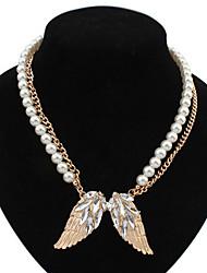Women's Pendant Necklaces Imitation Pearl Wings / Feather Imitation Pearl Alloy Basic Unique Design Pearl Friendship Bohemian Punk