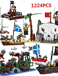cheap -Building Blocks Educational Toy Ship Pirate Pirates Kid's Girls' Unisex Toy Gift
