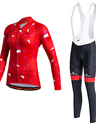 cheap -Sports Cycling Jersey Women's Long Sleeve BikeThermal / Warm / Quick Dry / Fleece Lining / Moisture Permeability / Reflective Strips /