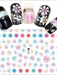 1pcs Hot Fashion Creative Design Nail Art DIY Beauty 3D Stickers Colorful Flower Beautiful Decoration F094