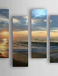Hand-Painted 4pcs of Set  Landscape Canvas Oil Painting For Home Decoration Ready to Hang