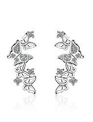 Women's Stud Earrings AAA Cubic Zirconia Animal Design Costume Jewelry Zircon Platinum Plated Bowknot Jewelry For Party/Evening Dailywear
