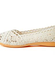 abordables -Femme Chaussures Tulle Eté Semelles Légères / Confort Ballerines Talon Plat Bout rond pour Noir / Beige / Gris